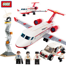 GUDI 334Pcs Airplane Toy Air Bus Model Airplane Building Blocks Plane Model DIY Bricks Classic Boys Toys
