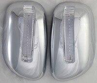 2 قطعة غطاء مرآة كروم لتويوتا كورولا 2001 2004 ABS مع أضواء جانبية أغطية مرايا لتويوتا كورولا 2002 2003-في مصدات من السيارات والدراجات النارية على