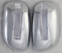 2pcs Chrome Mirror Cover For Toyota Corolla 2001 2004 ABS With Side Lights Mirror Covers For Toyota Corolla 2002 2003