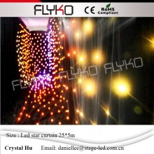 Stage lighting Led Star Curtain 90V-240V fullcolor,LED Star Cloth Wedding Backdrops 5*25M  easy to carry  цена и фото