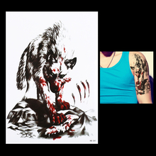 1pc Sexy Body Arm Sleeve Art Temporary Tattoo Sticker HB341 Product Women Men Blood Wolf Simple Picture Design Paste Tatoo Paper