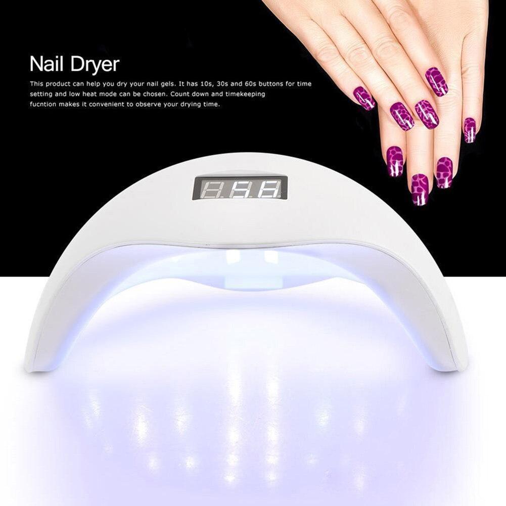 48W LED Nail Art Polish Gel Light UV Lamp Manicure Dryer Curing Timer Tool