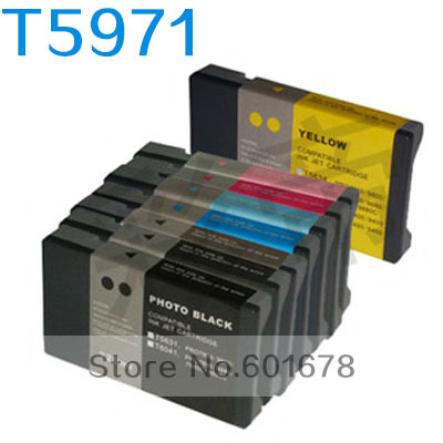 Refillable <font><b>Ink</b></font> T5971 /T5979 (2sets/lot) Compatible for <font><b>Epson</b></font> 7890/9908/7908/9710/9700/7710/<font><b>7700</b></font>/9910/9900/7910/7900 printers image