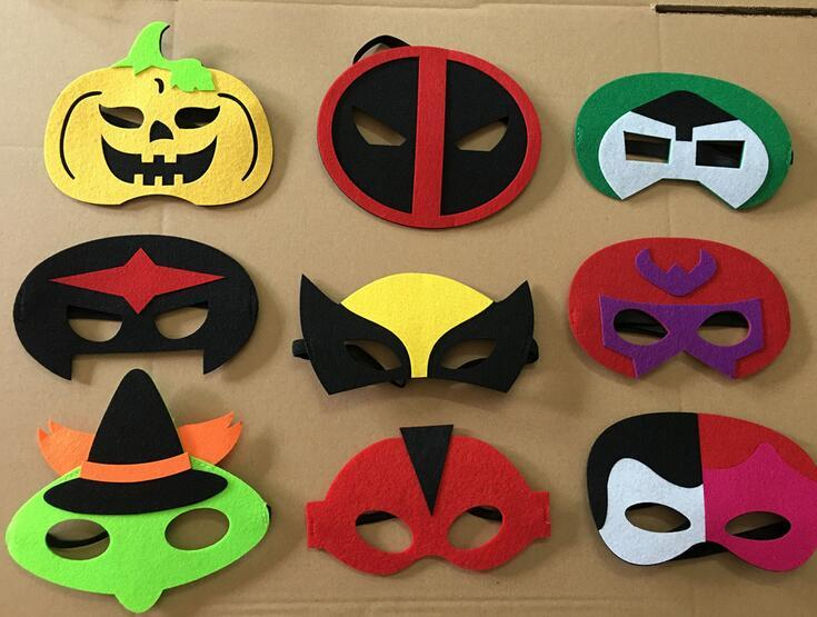 20pcslot superhero cosplay party mask masques kids halloween mask party decoration in stock - Kids Halloween Masks