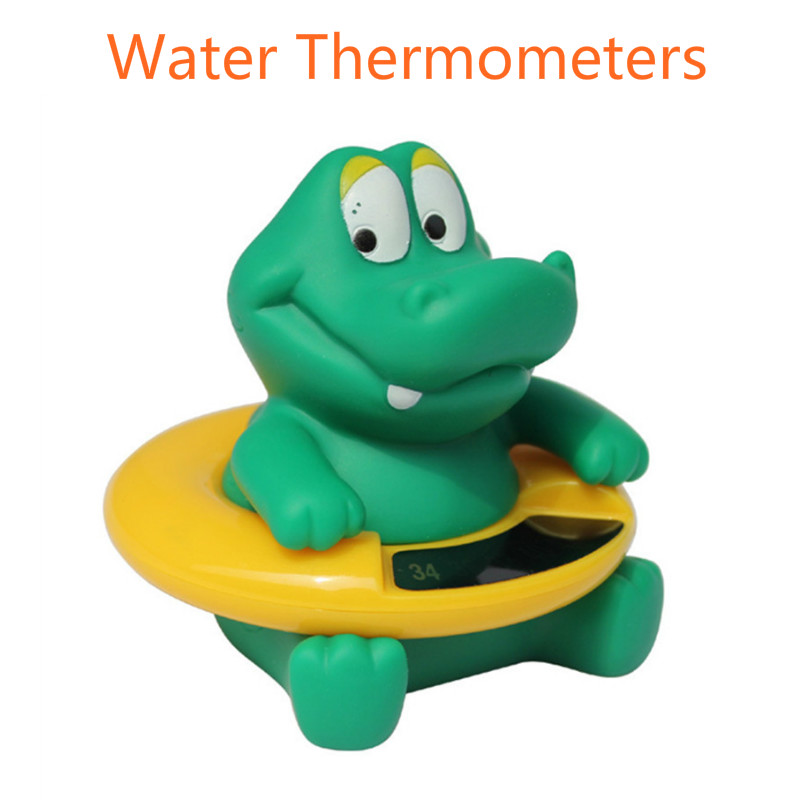 Infant Baby Temperature Water Thermometer Baby Bath Thermometer Crocodile Shower Tub Swimming Float Bathing Toy For Kid Boy Gift