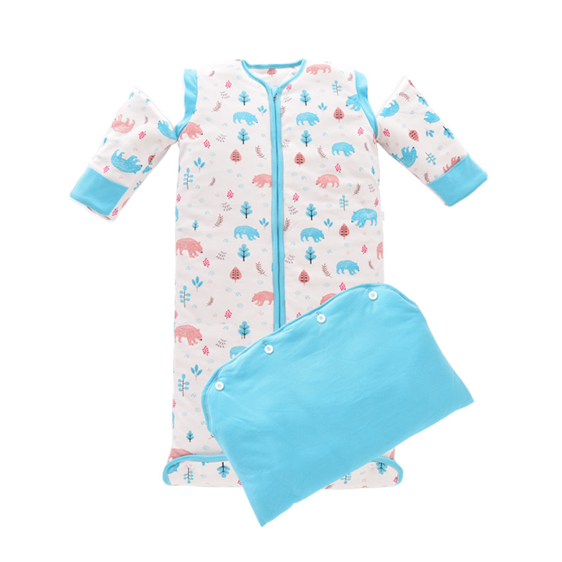 42529703e1 2018 Fashion Cartoon Pyjama Kids Baby Girls Pajamas Cloak Newborn Toddler  Blanket Sleepers Robes Baby Sleep