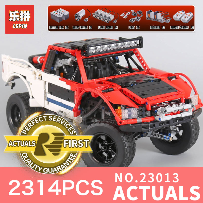 Lepin 23013 2314Pcs Genuine Technic MOC Series SUV car Pickup truck bricks model building kits blocks toys for Children gifts lepin 21002 technic series 1108pcs car model building kits blocks bricks toys compatible with hands on children gifts 10242