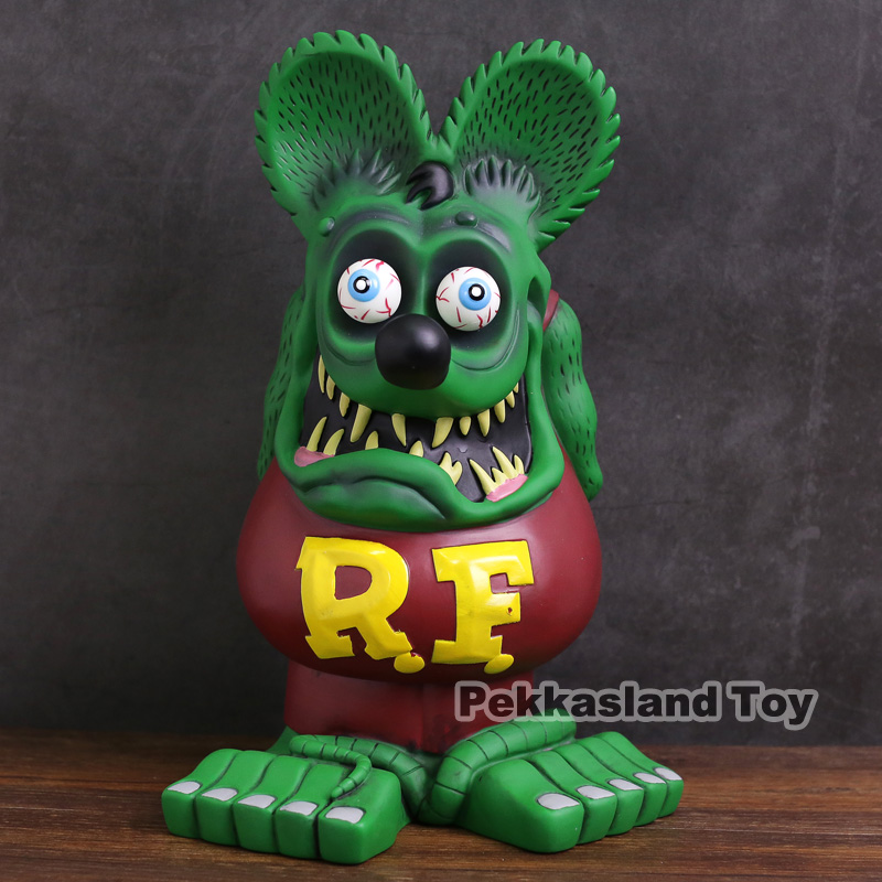 Contes du Rat Fink Super grande taille 32 cm de haut Rat Fink PVC Statue Figure à collectionner modèle jouet