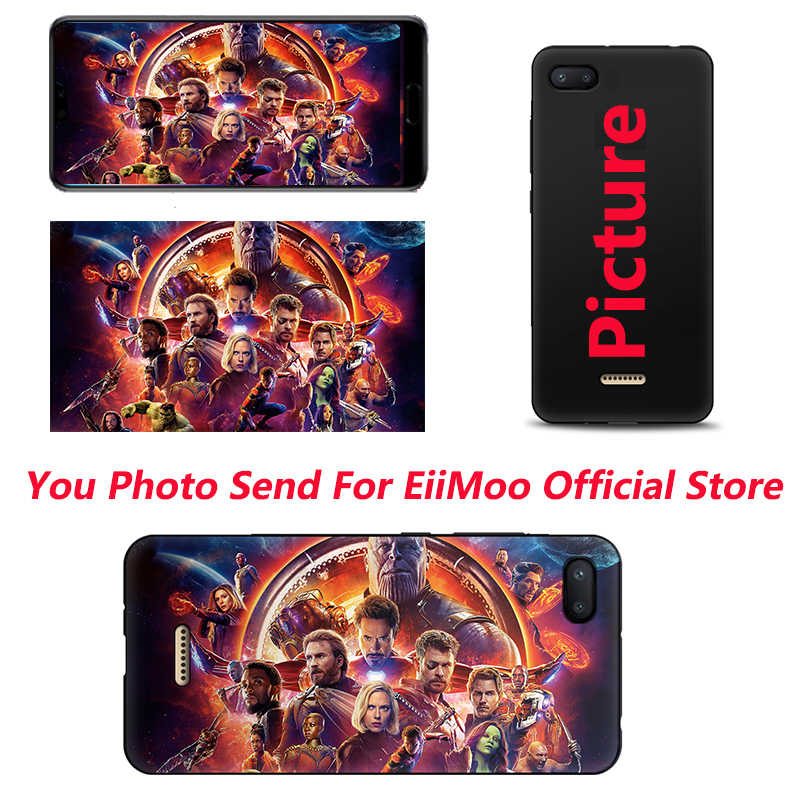 Eiimoo personalizado capa de telefone para xiaomi redmi 6a 5a 10x plus s2 cc9 caso personalizar foto para redmi nota 9s 4 5 6 7 8 t 10 pro max