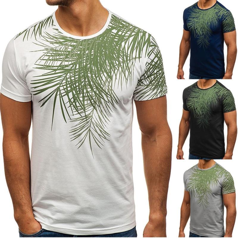 Summer Men's Casual Short Sleeve Printed T Shirt brand fashion tshirts mens clothing tee shirts 4colour