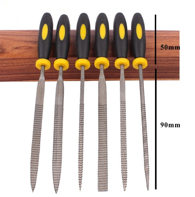 Wood Carving Tools Mini File Set Microtech Needle Rasp Filling Tool Woodworking Files Hobby Hand Diy Folder Metal Filing Flat