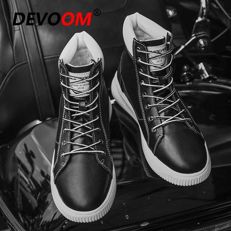 Sapatos Calçados black Novo Botas De Fur Top Branco Couro Alta 2019 Falso Tênis Moda Homem With Dos Homens Preto Neve Preto Da Pele Inverno Genuíno Do 4Cd01gcdq