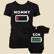 2017 New Family Summer Tee Shirt Mommy And Me Matching Outfits Short Cotton T-shirt  Romper Top Shirt