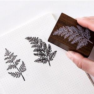 Image 5 - XINAHER בציר יער צמחים ירח קישוט בול עץ גומי בולים עבור כתיבה רעיונות DIY קרפט בול רגיל
