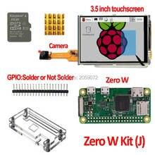 Raspberry Pi zera W Pi0 W pokładzie Raspberry Pi 3.5 cal LCD Pi0 zero futerał na aparat fotograficzny 8g karty SD 3.5 cal ekran dotykowy