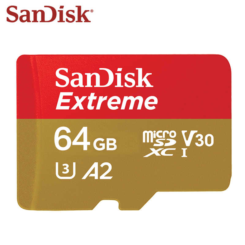 Carte Micro SD SanDisk 128 GB carte mémoire A2 Extreme 256 GB carte Micro SD UHS-I TF U3 V30 64 GB Support 4 K livraison gratuite
