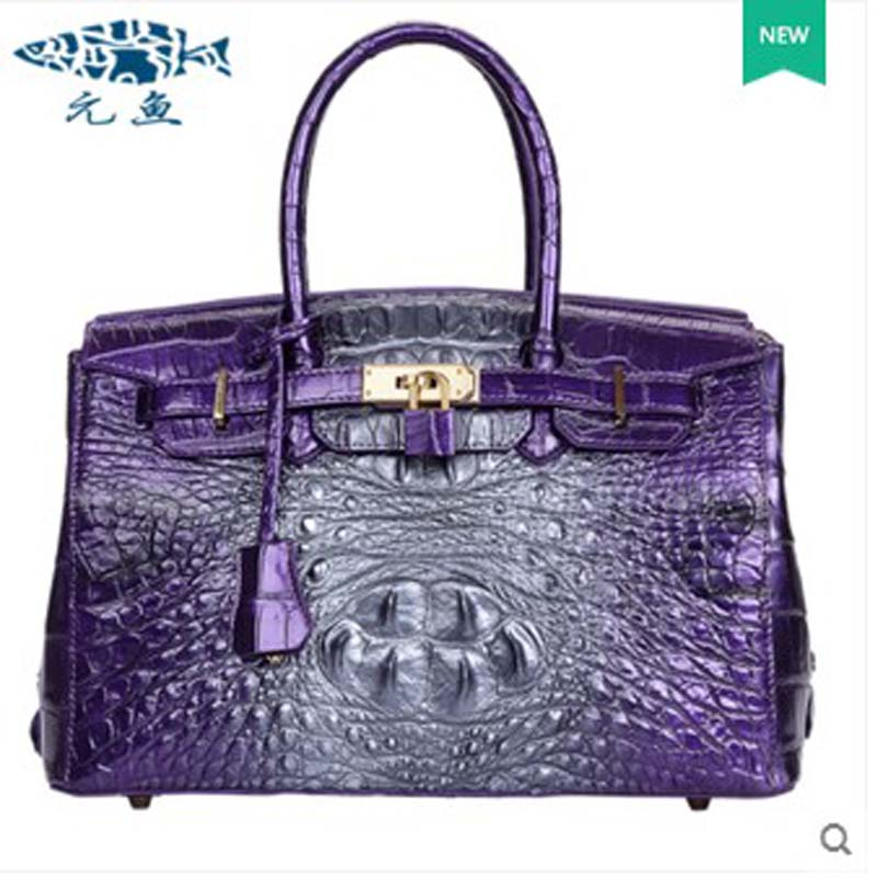 yuanyu new 2017 hot new free shipping crocodile leather women handbag high-end emale bag Wipe the gold yuanyu 2017 new hot free shipping crocodile handbag leather handbag handbag lock high capacity crocodile leather women bag