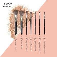 7PCS Makeup Brushes Set Powder Foundation Blush Eye Shadow Blend Cosmetic Beauty Make Up Brush Tool Kit Maquiagem YA213-23