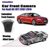 Liandlee Car Front View Camera For Audi A5 (8T) 2007 2016 2010 2012 2015 / 4.3 LCD Screen Monitor / Cigarette Lighter Switch
