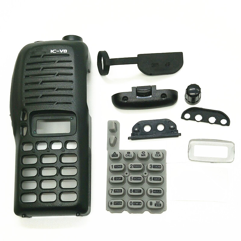 1PCS LOT Two way radio housing case cover with keypad for ICOM IC- V8 Walkie <font><b>talkie</b></font> COVER accessories free shipping