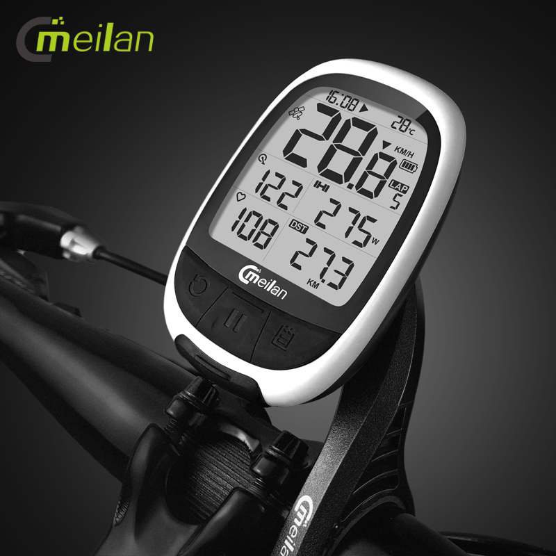 Meilan M2 GPS Bicycle Computer Wireless Speedometer BLE4.0/ANT+ Bike Odometer Speed / Cadence Sensor Heart Rate Monitor OptionalMeilan M2 GPS Bicycle Computer Wireless Speedometer BLE4.0/ANT+ Bike Odometer Speed / Cadence Sensor Heart Rate Monitor Optional