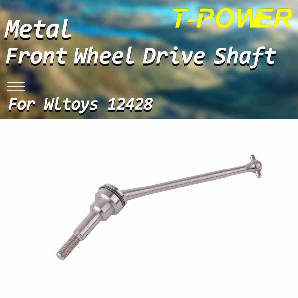 T-power Metal Voorwiel Aandrijfas voor FY-01/02/03/04/05/07 wltoys 12428 12423 RC Auto Accessoires Onderdelen Kits