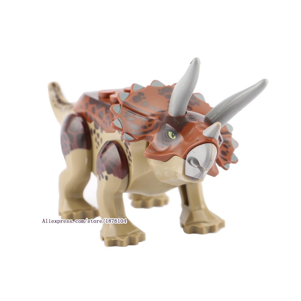8pcs / lot legingINGly Jurassic World Dinosaurs Torpaq blokları - Uşaq konstruktorları - Fotoqrafiya 3