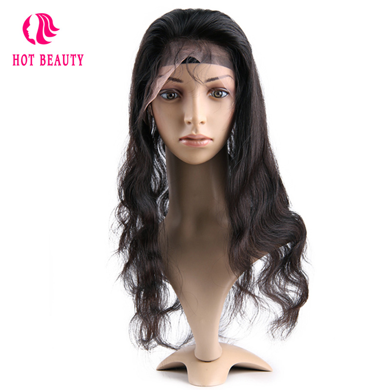 Hot Beauty Hair Remy brésilien Hair Wave Body 360 Dentelle Frontale - Cheveux humains (noir) - Photo 2