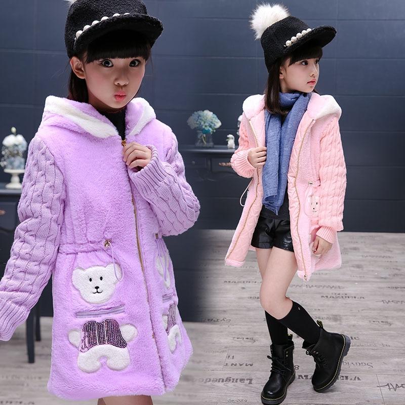 Kids Girls Winter Coats and Jackets 2016 Autumn Cotton Long Sleeve Girls Winter Jackets Girls Outerwear