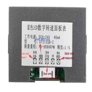 "Image 5 - Tachometer 4 דיגיטלי ירוק LED Tach סל""ד מהירות מטר עם אולם קרבה מתג חיישן NPN 24V"