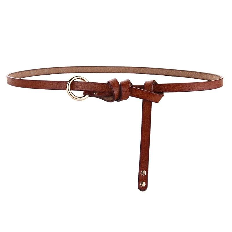 Leisure Cowhide  Belt Women Luxury Waist Belts Women Women's Leather Dress Accessories Belt