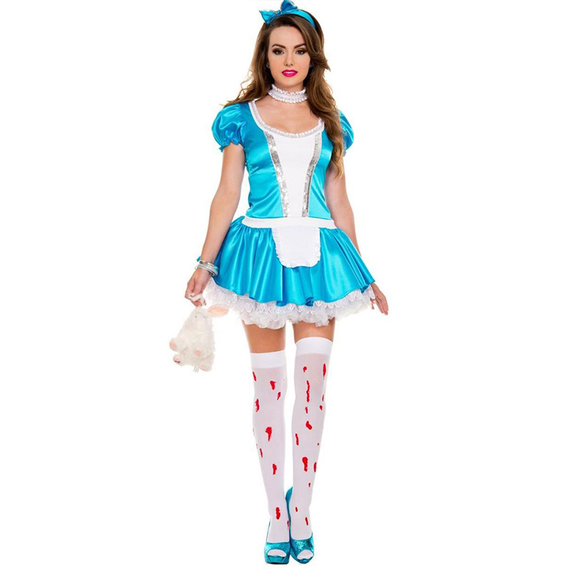2017 Adult Alice Wonderland Costume Cosplay Sexy Halloween Costume