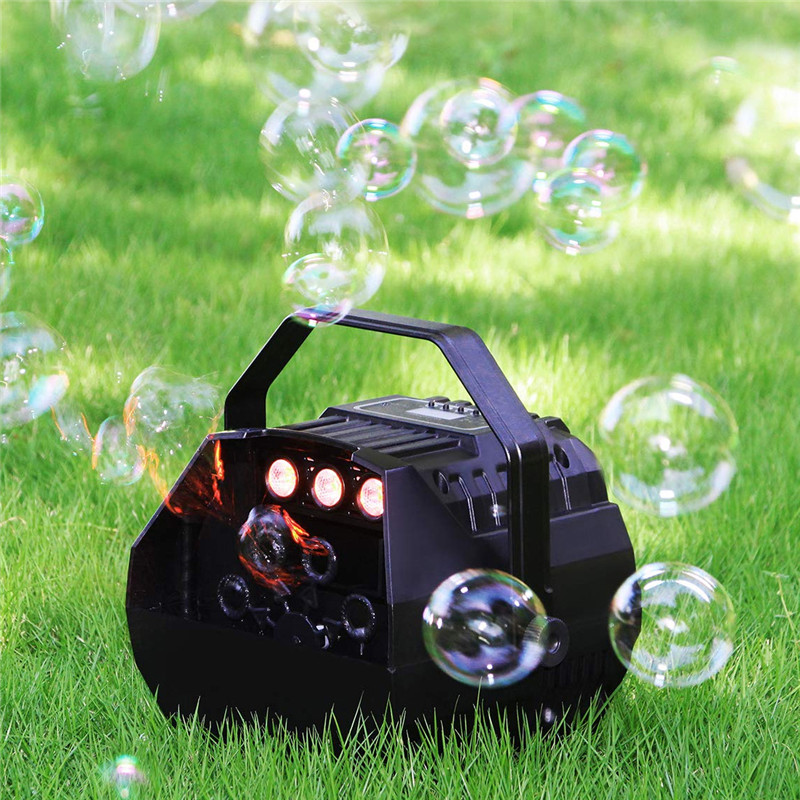 AC90-240V LED Lamp Romantic Stage Lights Remote Control Automatic Bubble Machine Great For Wedding Birthday Parties Festivals