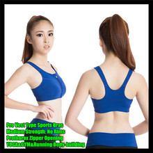 Pro Vest Type Sports Bras Medium Strength No Rims Women Bra Tank Tops,Prothorax Zipper,YOGA&GYM&Running Body-building Sling Vest