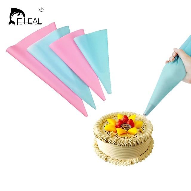 FHEAL 12 pz/set Riutilizzabile Piping Bag Pasticceria In Acciaio Inox Ugello Set Icing Piping Tubi Strumenti Bakeware Cake Dessert pittura