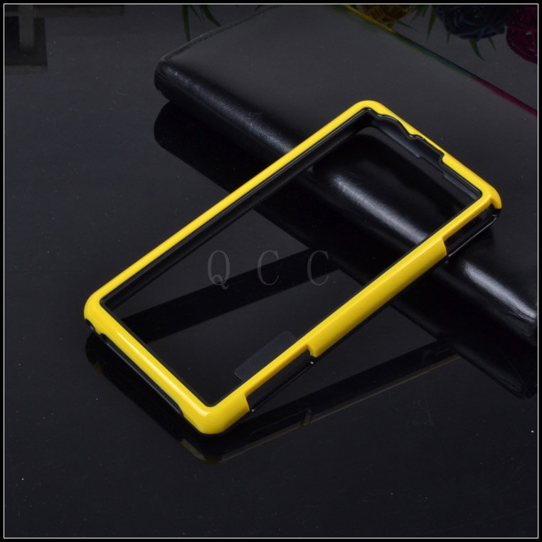 On Sale hybrid soft rubber protector frame tpu Bumper For sony Xperia Z1 mini silicone cover for Sony z1 compact phone bags case