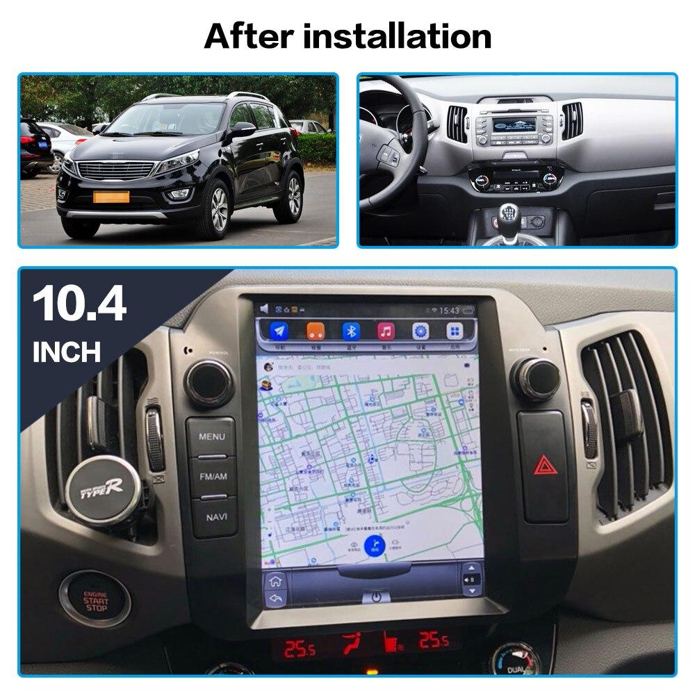 Cheap Android 7.1 Car GPS Navigation car DVD Player For KIA Sportage 2016+ Tesla style radio tape recorder auto headunit multimedia 3