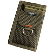 Short 3 Fold Design Oxford Canvas Student Wallet Zipper Brief Multifunctional Men Purse 5 Colors 12