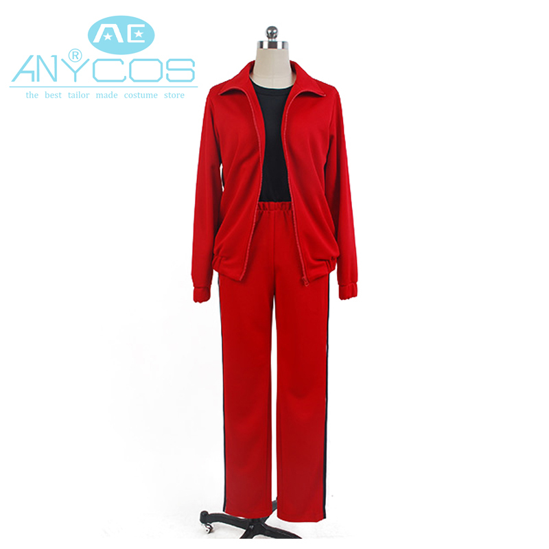 Haikyu Nekoma Cosplay High School Volleyball Uniform Women Men Boys Red Casual Jacket Pants Suit Costume Cosplay