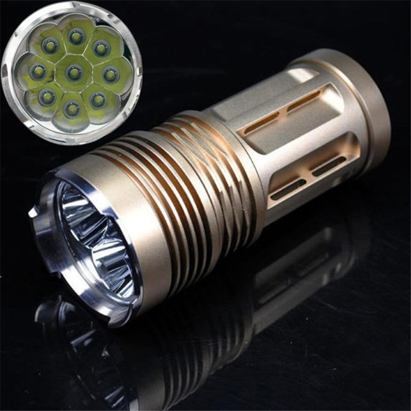 T2 Bicycle Light 10000 LM 9x XM-L T6 LED 18650 Tactical Flashlight Torch Hunting Lamp Light 3Modl Super Bright Camping Hiking