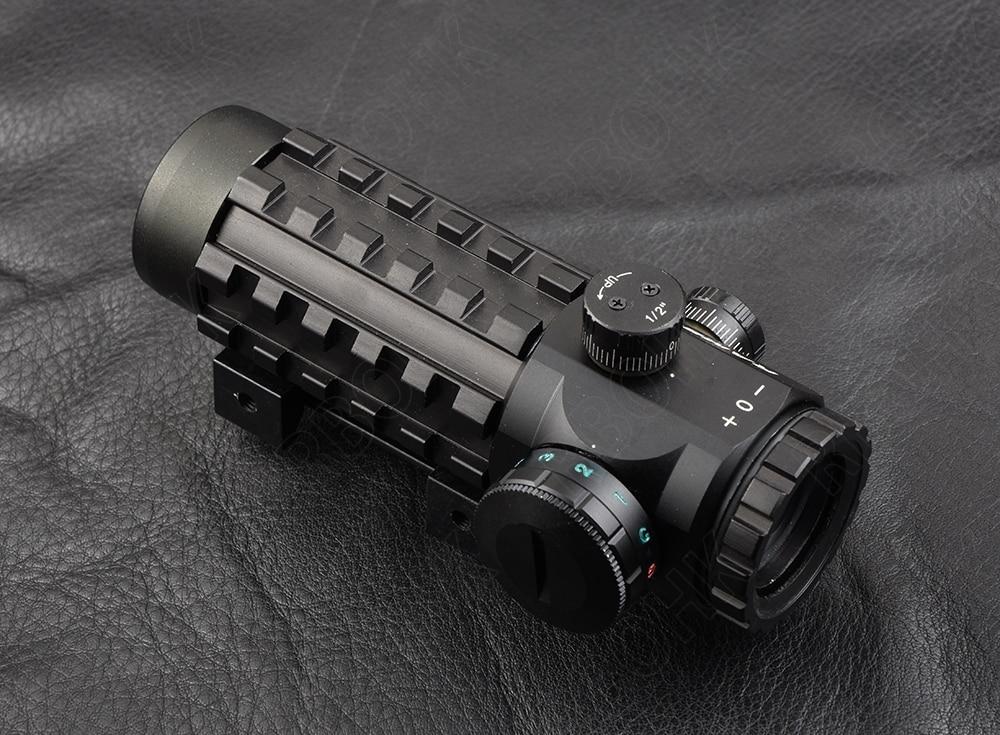 Pyramid 4x28 EG Rifle Scope Cross Lighting 20mm Picatinny And 11mm Dovetail Rail Mount Hunting Shooting M7924