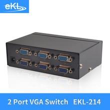 EKL 2x Input 4x Output VGA Splitter Switch 2 Way Switcher Resolution 1920×1440