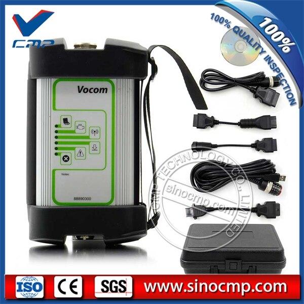 SINOCMP PTT1.12/2.40 88890300 Interface Vocom Volvo/Renault/UD/Mack Truck Diagnose 88890300 Vocom, 1 ano de garantia