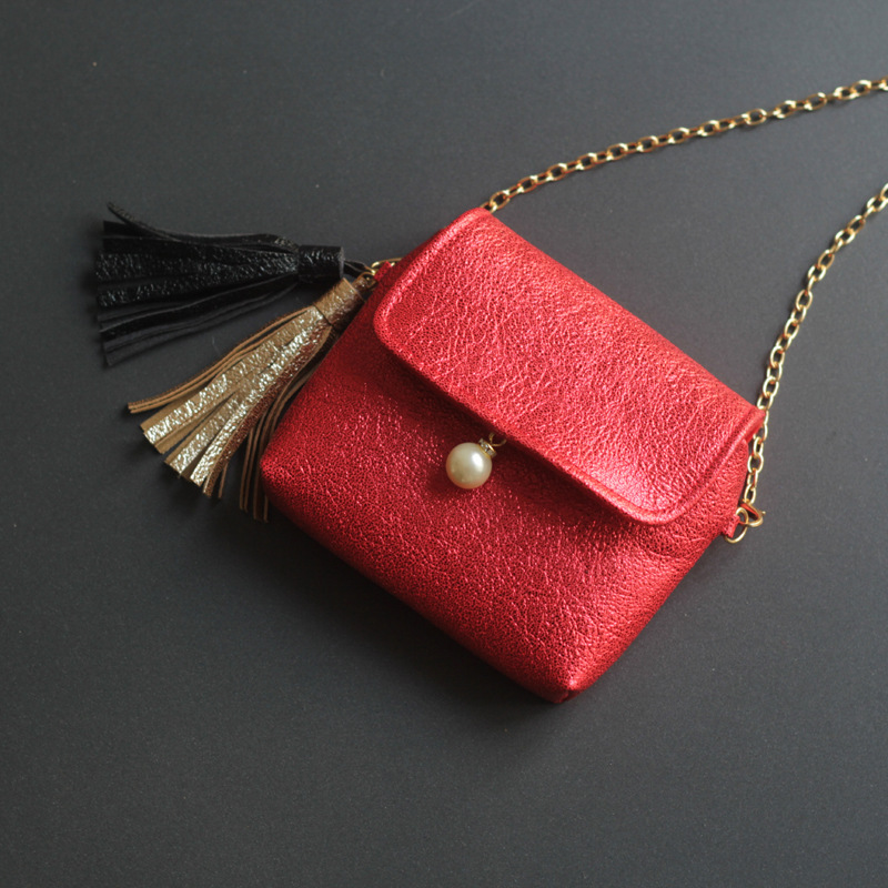PU leather princess tassels women mini coin purse kids small shoulder money pouch wallet bag bolsa carteira feminina for girls
