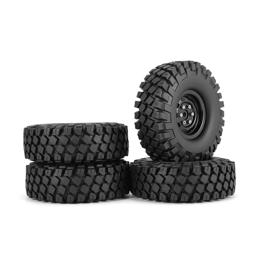 4Pcs 1 9 Inch 115mm Rubber Tires RC Crawler Car Part Tire with Metal Wheel Rim