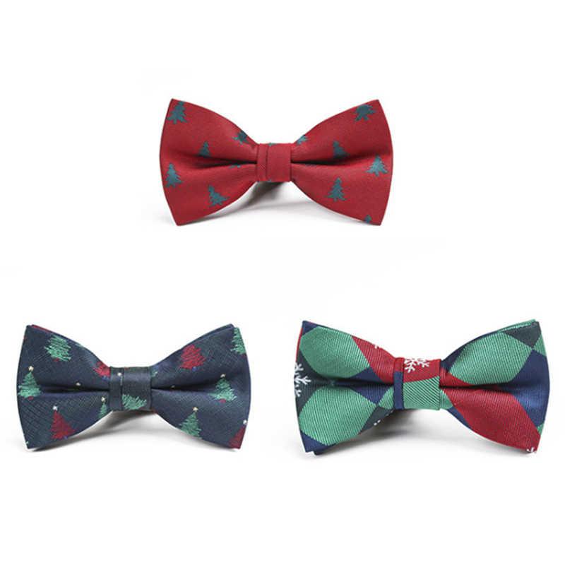 e8bb3f86e12a ... 1PC Mens Boy Novelty Christmas Bow Tie Men's Adjustable Xmas Tree  Snowflake Bowtie Bow Ties For ...