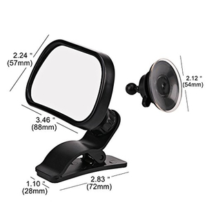 Image 3 - 2 in 1 Mini Children Rear Convex Mirror Car Back Seat Baby Mirror Adjustable Auto Kids Monitor Safety Car Rearview mirror