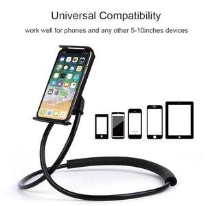 Myriann Paresseux Cou Titulaire Stand pour iPhone Universel pour Téléphone portable Support De Bureau Support pour Samsung Xiaomi Holder Flexible