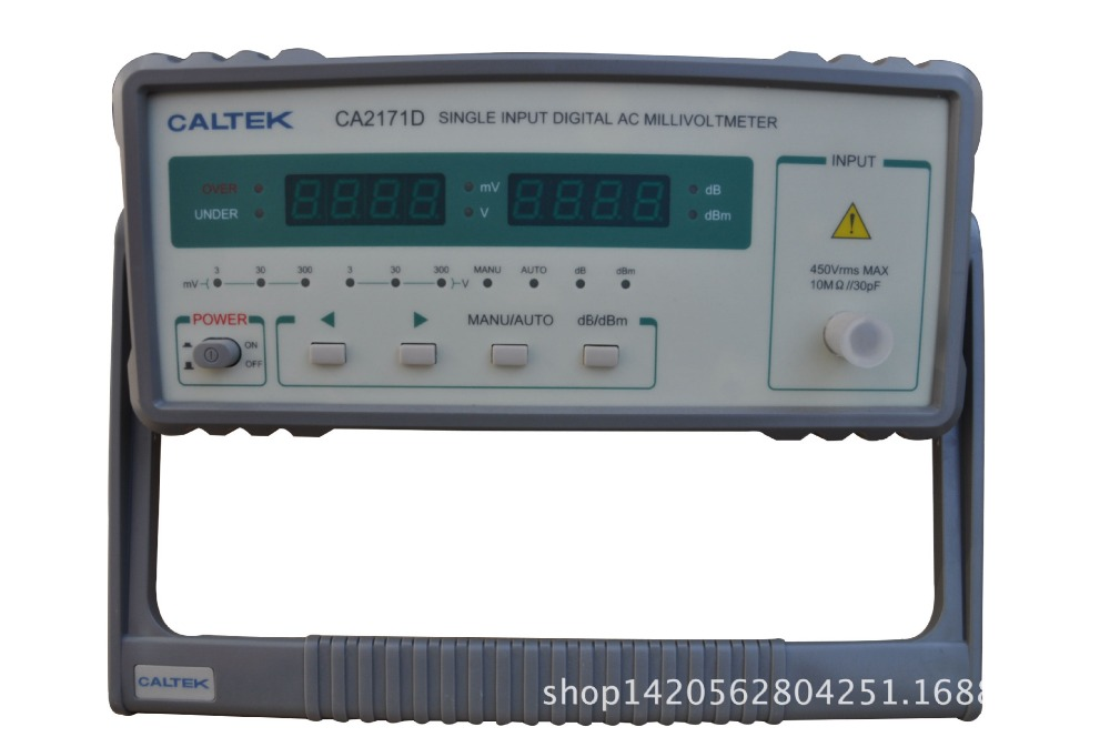 Yangzhong Caltek CA2171D single channel input AC digital voltmeter 100uV 300V, frequency range is 10Hz 2MHz