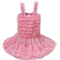 Baby Girls Tutu Dress Princess Wedding Birthday Party Dresses Sleeveless Lace Ball Gown Dress Blue Gray Pink 12M 6Y GD105